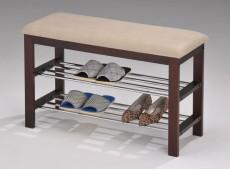Банкетка-стеллаж для обуви А1244L орех темный/хром