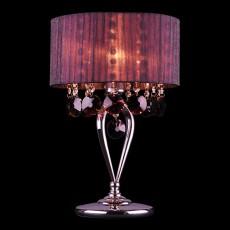 Настольная лампа декоративная 3153/1T хром/гранатовый  Strotskis