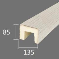 Архитектурный брус Cosca, 135x85x4000, белое дерево