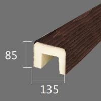 Архитектурный брус Cosca, 135x85x4000, красный сандал