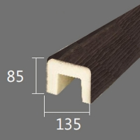 Архитектурный брус Cosca, 135x85x2000, темная секвойя