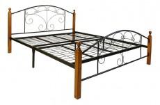 Кровать двуспальная 6103-160 дуб/черный