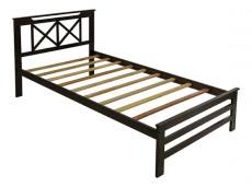 Кровать односпальная 6160Т капучино
