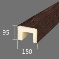 Архитектурный брус Cosca, 150x95x2000, красный сандал