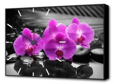 Настенные часы (60х37 см) Орхидеи BL-2201