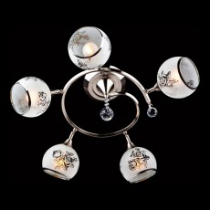 Накладной светильник 9611/5 серебро/белый