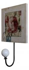 Крючок декоративный (15х25 см) Цветы X9164