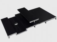 Клипса металлическая,  промежуточная WOOZEN с резиновым компенсатором.