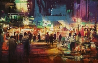 Картины на досках Живопись МФ10080