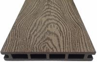Террасная доска из ДПК с тиснением марки Holzhof
