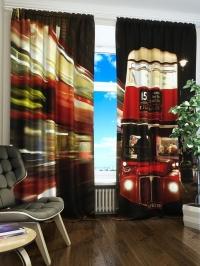 Фотошторы «Красный автобус»