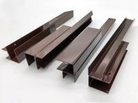 Угловой металлический элемент для доски ДПК высотой 225 мм.