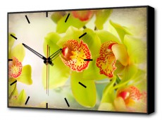 Настенные часы (60х37 см) Цветы BL-2200