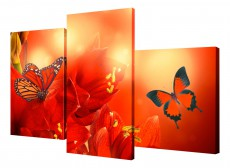 Набор из 3 панно (78х50 см)Цветы BT XH-214