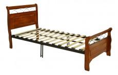 Кровать односпальная 6136 дуб/черный