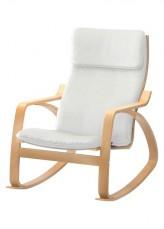Кресло-качалка 1814C дуб светлый/сливочно-белый