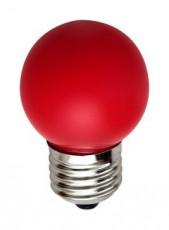 Лампа светодиодная LB-37 E27 220В 1Вт красный цвет 25116