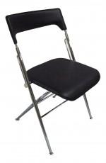 Набор из 2 стульев складных 1716 хром/черный (2 шт)