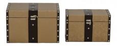 Набор сундуков 2567L/2567M бежевый/коричневый
