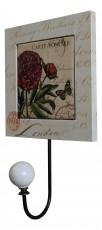 Крючок декоративный (15х25 см) Цветы X9163