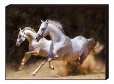 Панно (80х60 см) Лошади B-713