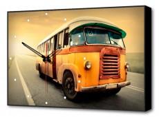 Настенные часы (60х37 см) Автобус BL-2301