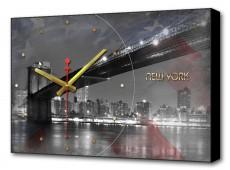 Настенные часы (60х37 см) Американский мост BL-2102