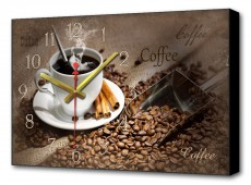 Настенные часы (60х37 см) Черный кофе BL-2211