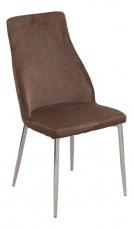 Набор стульев 1728-12 хром/коричневый (4 шт.)