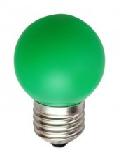 Лампа светодиодная LB-37 E27 220В 1Вт зеленый цвет 25117