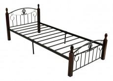 Кровать односпальная 203-1Т дуб/черный
