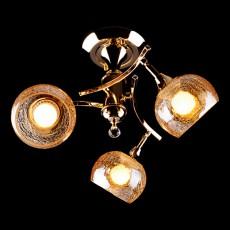 Люстра на штанге 3353/3Н золото/коричневый