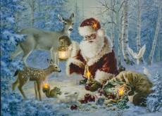 Панно световое (40х30 см) Санта Клаус 26970