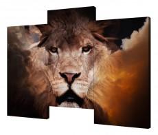 Набор из 3 панно (150х100 см) Царь зверей Y-3006H