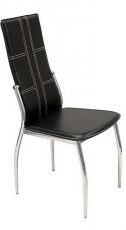 Набор стульев 1715BL хром/черный (4 шт.)