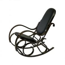 Кресло-качалка 1807-1 дуб темный/черный
