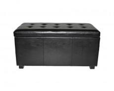 Банкетка с ящиком для хранения 2552L черная