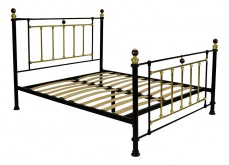 Кровать двуспальная 6153 золотой/черный