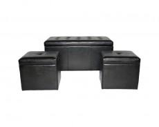 Банкетка с ящиком для хранения 2552S черная