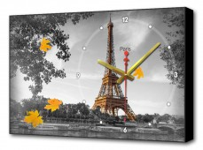 Настенные часы (60х37 см) Осенний Париж BL-2106