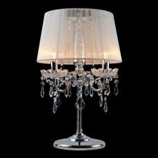 Настольная лампа декоративная 2045/3T хром/белый