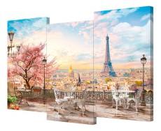 Набор из 3 панно (150х100 см) Мечты о Париже S-4141H