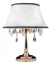 Настольная лампа декоративная 3145/3T золото/прозрачный