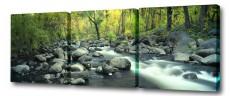 Набор из 3 панно (150х50 см) Каменистый ручей S-4120H
