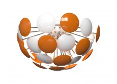 Потолочная люстра 3028/6PL Orange/White