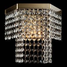 Накладной светильник 3100/1 античная бронза/прозрачный хрусталь Strotskis
