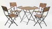 Стол квадратный 80*80 см + 4 стула с подлокотниками